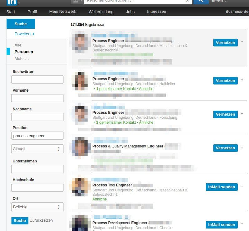 Search Results for Process Engineer on Linkedin